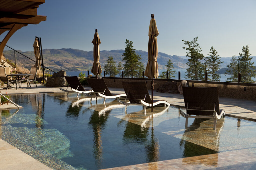 pool with a view in kelowna bc