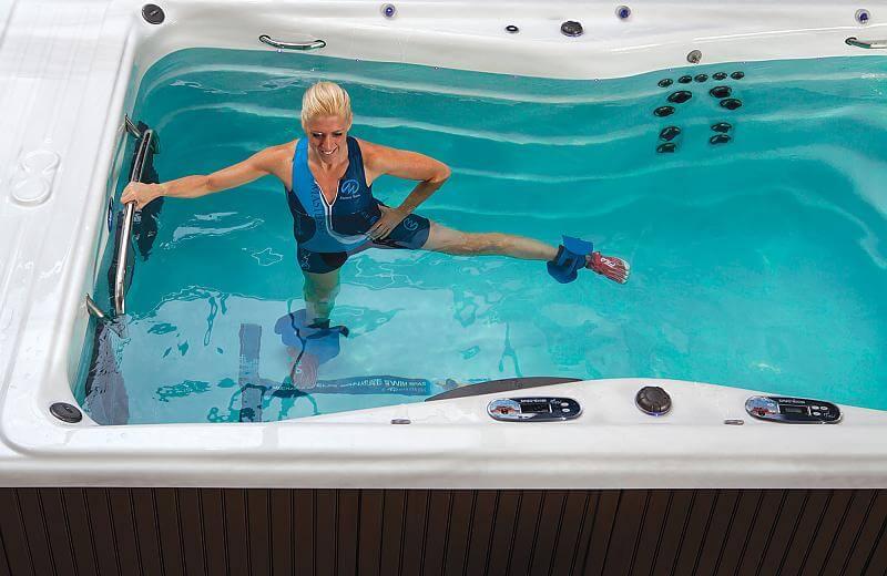 lower body workout in swim spa