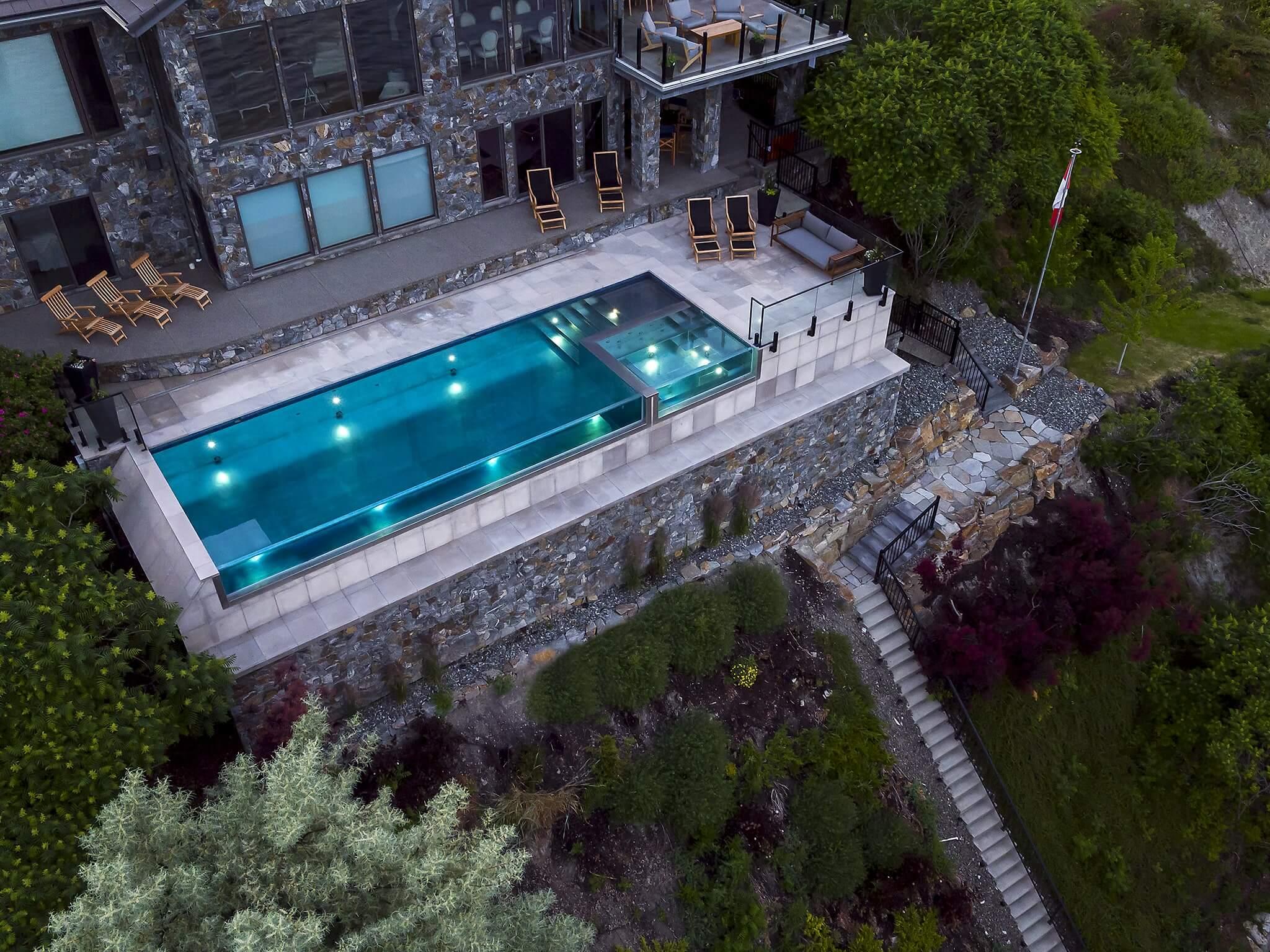 Stainless steel swimming pool in Kelowna